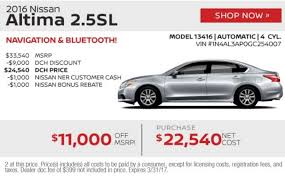 nissan altima 2016 cost dch freehold nissan march newsletter