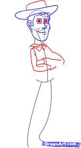 draw woody step step disney characters cartoons draw