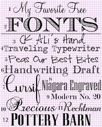 my favorite free fonts in my own style