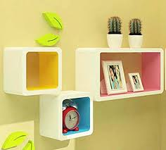 Wall Shelves Amazon by Zjchao Squares Wall Shelves Rounded Corner Decorative Display
