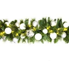 9 sequoia garland decorated with the iceland ornament collection