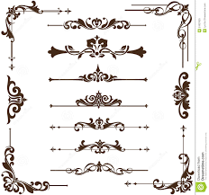 vector vintage ornaments corners borders illustration 51837920