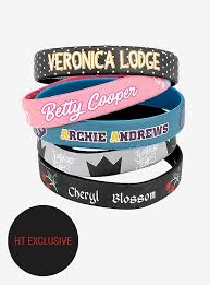 bracelet rubber images Riverdale character rubber bracelet set hot topic exclusive