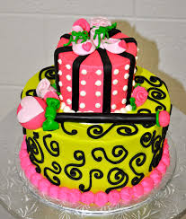 leah u0027s sweet treats lime green and pink baby shower cake