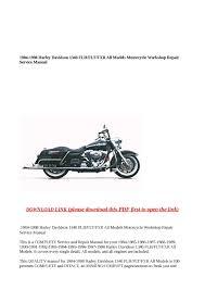 calaméo 1984 1998 harley davidson 1340 flh flt fxr all models