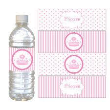 labels for party favors princess bottle labels party favor wrappers princess birthday