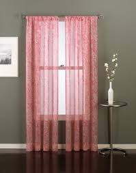 Coral Sheer Curtains Beautiful Coral Sheer Grommet Curtains
