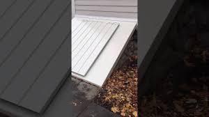 lucigold bulkhead basement door for slope foundation youtube