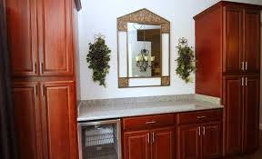Cherry Cabinet Kitchen Red Cherry Cabinets Kitchen Contemporary With Wood Countertop