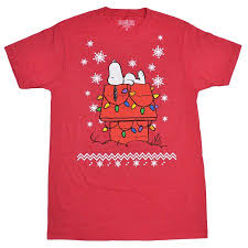 snoopy christmas t shirt peanuts snoopy christmas lights snowflakes men s t shirt