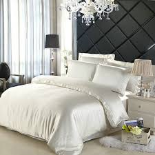 White Silk Bedding Sets 19 Mm Seamless Beige Chagne Color 100 Mulberry Silk Bedding