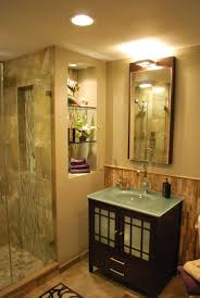 Glass Tile Bathroom Designs Asian Inspired Guest Bathroom Remodel In Rochester Ny Concept Ii