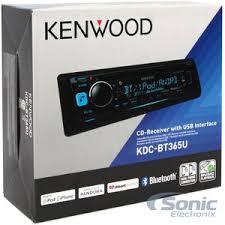 kenwood kdc bt365u single din bluetooth in dash car stereo receiver