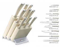 wusthof knife block wusthof classic ikon crème 9 pieces 9874