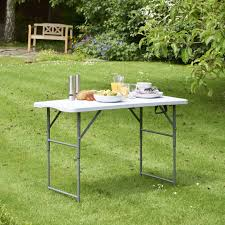 Folding Table Amazon Com Vonhaus 4ft Folding Table With Adjustable Height