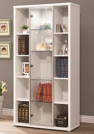 white solid wood bookcase furniture have the tidy look of home with bookcases with glass
