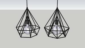 Pendant Light 3d Model Industrial Metal Pendant Lights 3d Warehouse Rendering