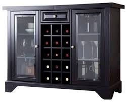 Bar Cabinet With Wine Cooler Crosley Lafayette Sliding Top Bar Cabinet Transitional Wine