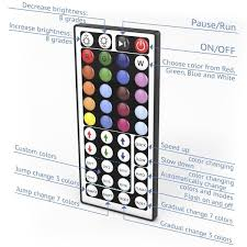 led strip lights remote led strip lights kit with wireless remote controller u2013 eurekashop