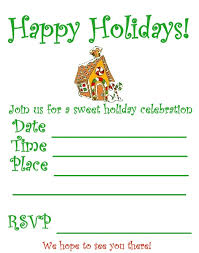 christmas party invitation template gingerbread christmas party invitation