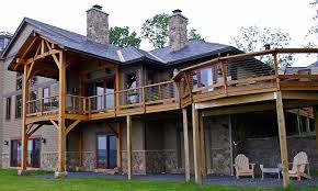 Wrap Around Deck Designs Taking Advantage Of Priceless Views Of Cayuga Lake A Timber Frame