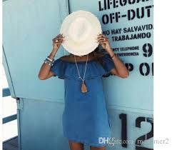 2017 women dress new fashion designer loose slash neck jeans