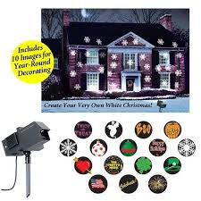 outdoor motion light projector snow house decoration
