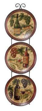 wine bottle plates wine and grapes kitchen decor home majestic grape plate set set