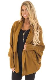 Open Drape Cardigan Sweater Mustard Long Sleeve Open Draped Cardigan Lime Lush Boutique