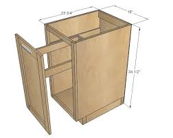 building kitchen base cabinets 18 kitchen base cabinet trash pull out or storage cupboard with