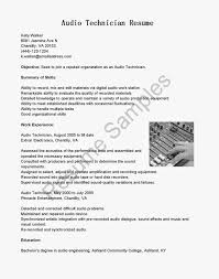 Engineering Intern Resume Resume Audio Engineer Resume
