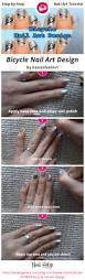 bicycle nail art design nail art gallery step by step tutorial