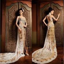 batik wedding dress i think it would be cool to represent my