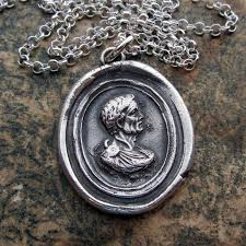 wax seal jewelry julius caesar intaglio wax seal necklace shannon westmeyer jewelry