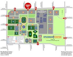 csudh map general parking information stubhub center