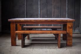 farm tables with benches reclaimed wood farm table woodworking athens atlanta ga