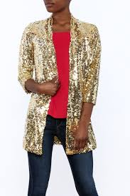 Gold Sequin Cardigan Fabulous Furs Sequin Gold Blazer From Montclair By That Little