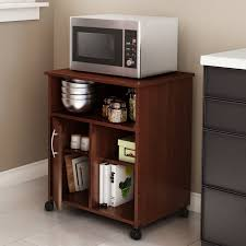 Microwave Cart With Wheels South Shore Axess Microwave Cart With Storage On Wheels 7246b1