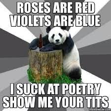 Meme Poem - adult roses are red poem meme
