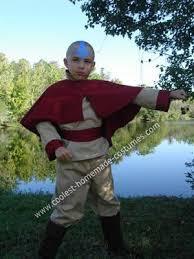 Halloween Avatar Costume Coolest Aang Avatar Airbender Cartoon Version Halloween