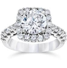 2ct engagement rings 3 ct 2ct center cushion halo enhanced diamond engagement ring