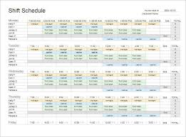 77 work schedule templates word excel pdf creative template