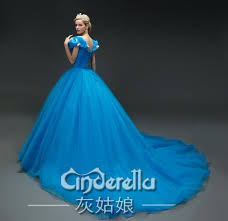 sale 2015 new movie deluxe blue cinderella dress cosplay