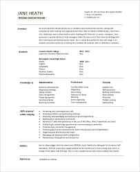 Personal Assistant Resume Sample Sample Entry Level Resume 9 Examples In Word Pdf