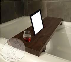 Wood Bathtub Caddy Rustic Bathtub Caddy Ipad Wood Bathtub Tray Bath Shelf
