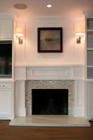 Travertine Fireplace Tile by Fireplace Hearth Flush W Floor Would Mosaic Tile Work On The Floor