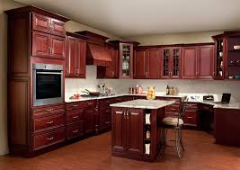 kitchen cherry cabinets black appliances cherry wood kitchen