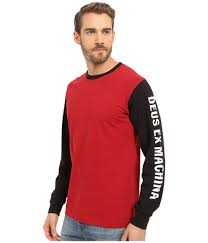 Ex Machina Length by Deus Ex Machina Frank Sleez Long Sleeve Tee In Red For Men Lyst