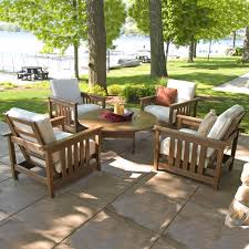 Poly Lumber Outdoor Furniture Polywood 5 Piece Conversation Set Mission Collection Polywood