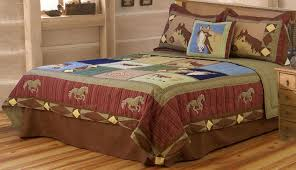 Quilted Bed Valance Bedding Horse Quilt Twin Full Queen Or King Bedding With